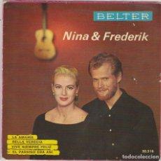 Disques de vinyle: NINA & FREDERIK / LA AMARIA + 3 (EP 1962). Lote 81202772
