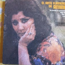 Discos de vinilo: LP - AMINA - EL ARTE FLAMENCO D EAMINA (SPAIN, HISPAVOX 1980). Lote 81209020