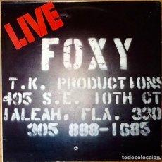 Discos de vinilo: FOXY : LIVE [ESP 1980]. Lote 81222004