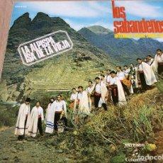 Disques de vinyle: LOS SABANDEÑOS. ANTOLOGIA DEL FOLKLORE CANARIO VOL. 2. COLUMBIA 1977. LA ALPISPA. ISA DE LA VIEJA. Lote 81257956