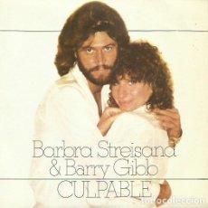 Discos de vinilo: BARBRA STREISAND & BARRY GIBB. SINGLE. SELLO CBS. EDITADO EN ESPAÑA. AÑO 1980. Lote 81292400