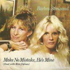 Discos de vinilo: BARBRA STREISAND . SINGLE. SELLO CBS. EDITADO EN ESPAÑA. AÑO 1984. Lote 81293324