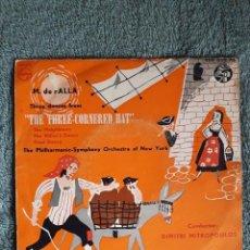 Discos de vinilo: MANUEL DE FALLA / THE THREE CORNERED HAT / THE PHILHARMONIC-SYMPHONY ORCHESTA OF NEW YORK. Lote 81325808