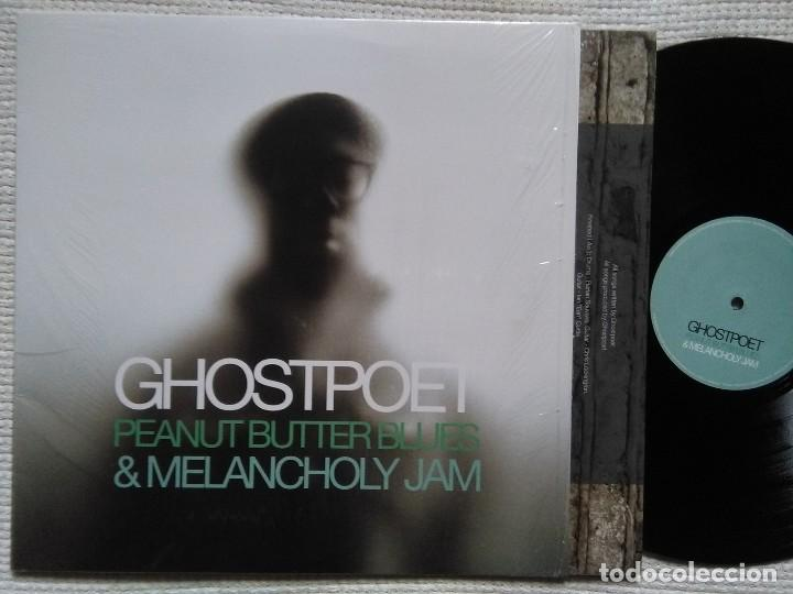 GHOSTPOET - '' PEANUT BUTTER BLUES & MELANCHOLY JAM '' LP + INNER ORIGINAL 2011 UK (Música - Discos - LP Vinilo - Rap / Hip Hop)