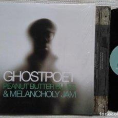 Discos de vinilo: GHOSTPOET - '' PEANUT BUTTER BLUES & MELANCHOLY JAM '' LP + INNER ORIGINAL 2011 UK. Lote 81400996