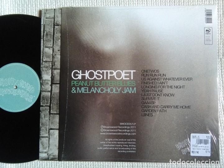 Discos de vinilo: GHOSTPOET - PEANUT BUTTER BLUES & MELANCHOLY JAM LP + INNER ORIGINAL 2011 UK - Foto 2 - 81400996