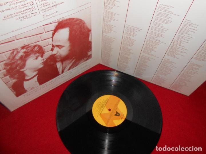 Discos de vinilo: JORGE MELGAREJO ¿Quien quiere estrechar mi mano? LP 1978 Nevada FOLK CANCION PROTESTA - Foto 2 - 81441636