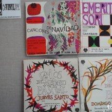 Discos de vinilo: LOTE 4 EPS DE MÚSICA RELIGIOSA DISCOTECA PAX NAVIDAD, MISTERIO PASCUAL. Lote 81540268