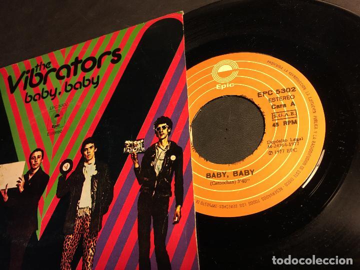 Discos de vinilo: THE VIBRATORS (BABY, BABY / EN EL FUTURO) SINGLE ESPAÑA 1977 PUNK (EPI6) - Foto 2 - 81565008