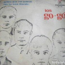 Discos de vinilo: LOS GO-GO-QUIERO QUE ME QUIERAS-DISCO DE PROMOCION ORIGINAL 1966-SONIDO ESPECTACULAR. Lote 81622352