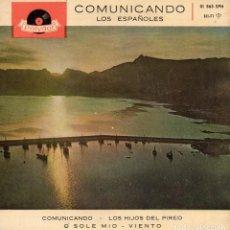 Discos de vinilo: ESPAÑOLES, EP, COMUNICANDO + 3, AÑO 1960. Lote 81632340