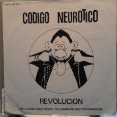 Discos de vinilo: CODIGO NEUROTICO - REVOLUCIÓN + 3 NUEVO PROMO. Lote 81656844