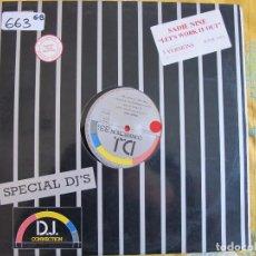 Discos de vinilo: MAXI - SADIE NINE - LET'S WORK IT OUT (THREE VERSIONS) (SPAIN, D.J. CONNECTION 1987). Lote 81668248