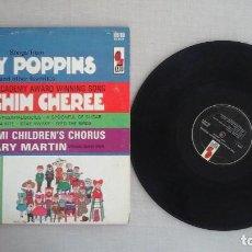 Discos de vinilo: LOTE 3 LPS MÚSICA INFANTIL WALT DISNEY CINDERELLA, MARY POPPINS CHIPMUNKS. Lote 81690880