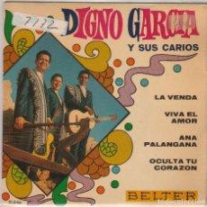 Discos de vinilo: DIGNO GARCIA Y SUS CARIOS / LA VENDA + 3 (EP 1969). Lote 81727724
