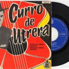 Discos de vinilo: EPCURRO DE UTRERA (VOL. 2)CURRO DE UTRERAEPHISPAVOX1959. Lote 81736524