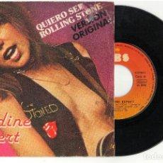 Discos de vinilo: SINGLE - NADINE EXPERT - QUIERO SER ROLLING STONE CBS 1978. Lote 81743260