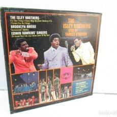 Discos de vinilo: THE ISLEY BROTHERS. LIVE AT YANKEE STADIUM. DOS DISCOS DE VINILO. T NECK BUDDAH RECORDS.. Lote 81763592