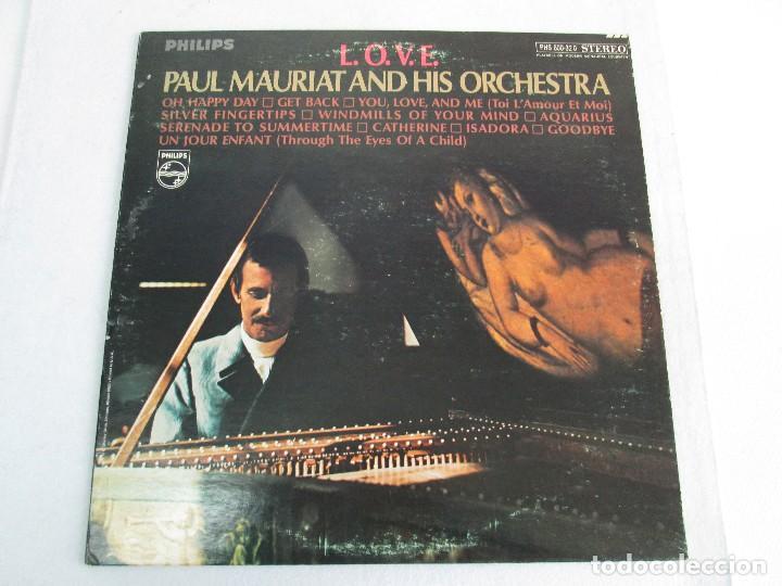 Discos de vinilo: L.O.V.E. PAUL MAURIAT AND HIS ORCHESTRA. DISCO DE VINILO. PHILIPS. VER FOTOGRAFIAS ADJUNTAS - Foto 2 - 81766320