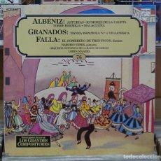 Discos de vinilo: ALBENIZ / GRANADOS / FALLA. GUITARRA, NARCISO YEPES.PHILIPS 1982. LP. Lote 81800700