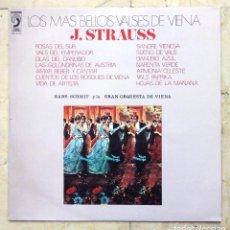 Discos de vinilo: LP LOS MÁS BELLOS VALSES DE VIENA - J. STRAUSS - DISCOPHON 1972.. Lote 81836336