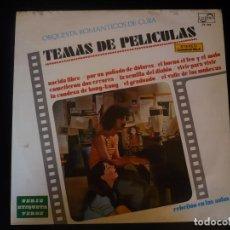 Discos de vinilo: TEMAS DE PELICULAS, ORQUESTA ROMANTICOS DE CUBA. Lote 81837708