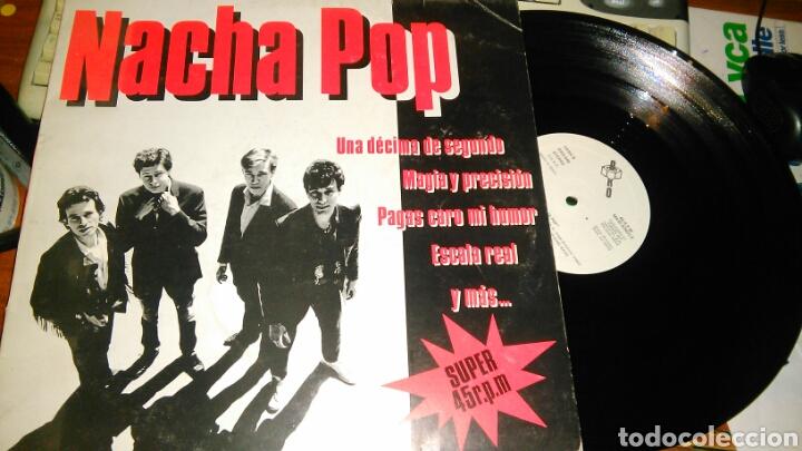 NACHA POP MAXI PROMOCIONAL UNA DECIMA DE SEGUNDO.1984 (Música - Discos de Vinilo - Maxi Singles - Grupos Españoles de los 70 y 80)