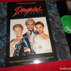 Discos de vinilo: DANGEROUS LIAISONS BSO OST GEORGE FENTON LP 1989 VIRGIN EDICION ESPAÑOLA SPAIN. Lote 81870716