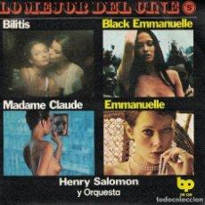 Discos de vinilo: HENRY SALOMON Y SU ORQUESTA - BILITIS/BLACK EMMANUELLE/MADAMECLAUDE/EMMANUELLE. Lote 95454835