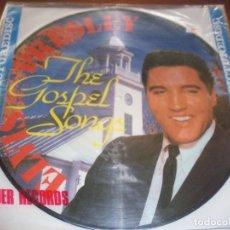 Discos de vinilo: LP PICTURE DE ELVIS PRESLEY, THE GOSPEL SONGS. MUY RARO. NUEVO SIN ABRIR.. Lote 81882572