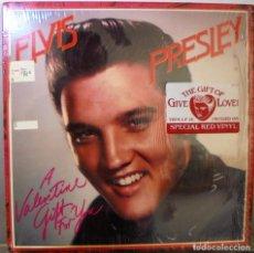Discos de vinilo: ELVIS PRESLEY A VALENTINE GIFT FOR YOU -- ED.USA 1985 -- RCA AFL1-5553 - LP ED.ESPECIAL VINILO ROJO. Lote 81885516