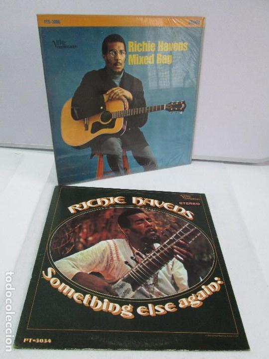 RICHIE HAVENS. SOMETHING ELSE AGAIN. MIXED BAG. DOS DISCOS DE VINILO. VERWE FORECAST. VER FOTOS (Música - Discos - Singles Vinilo - Country y Folk)