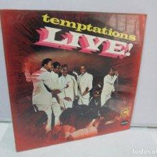 Discos de vinilo: TEMPTATIOONS LIVE! DISCO DE VINILO. GORDI 1967. VER FOTOGRAFIAS ADJUNTAS. Lote 81891596