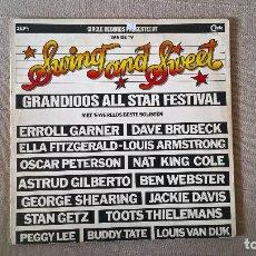 Discos de vinilo: MUSICA LP SWING AND SWEET GRANDIOOS ALL START FESTIVAL PJ.E . Lote 81907280