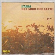 Discos de vinilo: RICHARD COCCIANTE / L'ALBA / VENDO (SINGLE PROMO 1976). Lote 81914464