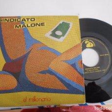Discos de vinilo: SINDICATO MALONE-SINGLE EL MILLONARIO-1983. Lote 81927760