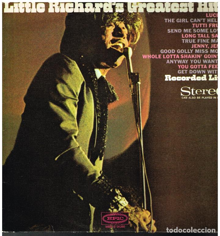 LITTLE RICHARD - LITTLE RICHARD'S GREATEST HITS - LP 1967 - ED. HOLANDA (Música - Discos de Vinilo - EPs - Rock & Roll)