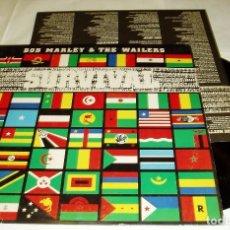 Discos de vinilo: BOB MARLEY & THE WAILERS – SURVIVAL LP 1979 ISLAND + ENCARTE. Lote 81938868