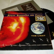 Discos de vinilo: AFRIKA BAMBAATAA & FAMILY ?– THE LIGHT LP 1988 EMI RECORDS+ ENCARTE+ PORTADA DOBLE. Lote 82015404