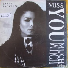 Dischi in vinile: MAXI - JANET JACKSON - MISS YOU MUCH (THREE VERSIONS) / YOU NEED ME. Lote 82028724