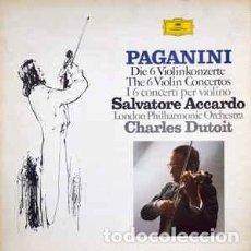 Discos de vinilo: PAGANINI - ACCARDO - LOS SEIS CONCIERTOS PARA VIOLIN - 5LP BOX. Lote 82034780