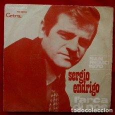Discos de vinilo: SERGIO ENDRIGO (SINGLE 1970) XX FESTIVAL DE SAN REMO 70 - L'ARCA DI NOE - SANREMO. Lote 82046084