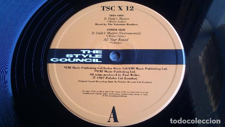 Discos de vinilo: THE STYLE COUNCIL - IT DON'T MATTER - ALL YEAR ROUND - MAXI SINGLE - 1987 - NUEVO - Foto 3 - 82053536