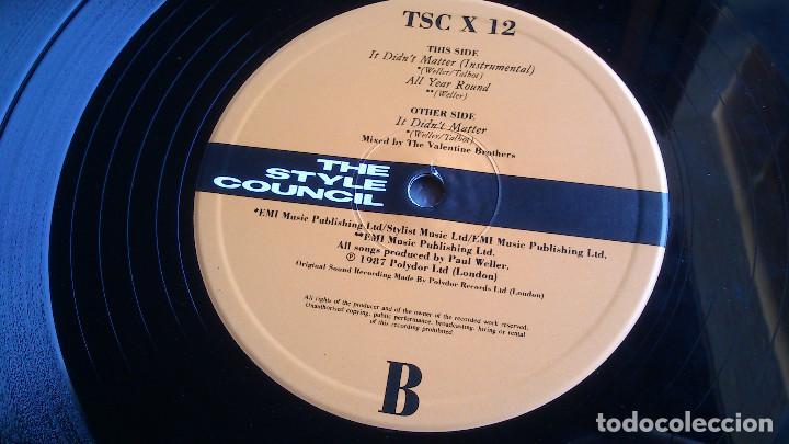 Discos de vinilo: THE STYLE COUNCIL - IT DON'T MATTER - ALL YEAR ROUND - MAXI SINGLE - 1987 - NUEVO - Foto 5 - 82053536