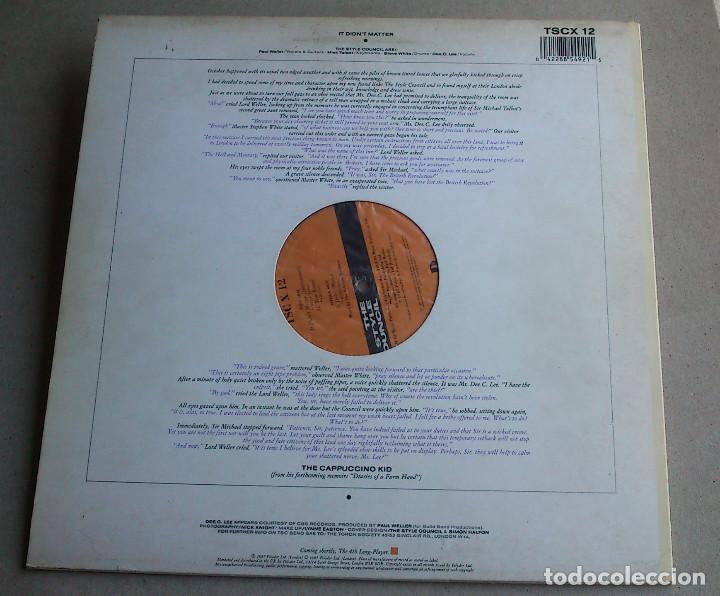 Discos de vinilo: THE STYLE COUNCIL - IT DON'T MATTER - ALL YEAR ROUND - MAXI SINGLE - 1987 - NUEVO - Foto 7 - 82053536
