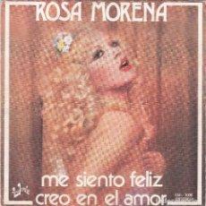 Disques de vinyle: ROSA MORENA, ME SIENTO FELIZ DEL 77. Lote 82064752