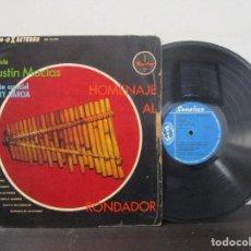 Discos de vinilo: HOMENAJE AL RONDADOR AGUSTIN MACIAS MARY GARCIA SONOLUX COLOMBIA LP T90 G+ RARO ESCASO. Lote 82099152