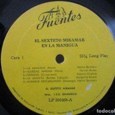Discos de vinilo: EL SEXTETO MIRAMAR EN LA MANIGUA GUAGUANCO BOMBA CALYPSO DESCARGA JALA JALA Y+ LP T90 G- WU. Lote 82114600
