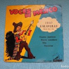 Discos de vinilo: VOCES DE MEJICO-IRMA VELA-JORGE NEGRETE-TRIO CALAVERAS-LA VOZ DE SU AMO-1958. Lote 82135408