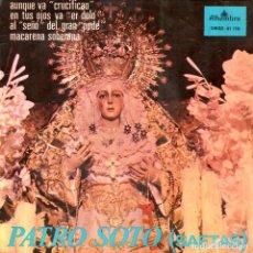 Discos de vinilo: PATRO SOTO 1966 ALHAMBRA SMGE 81110 SAETAS. Lote 82199672